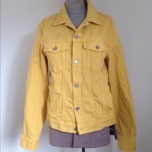 S LOGG Denim Boyfriend Jacket Jean Gold Mustard